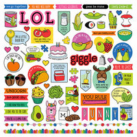 Photo Play Paper - No Pun Intended Collection - 12 x 12 Cardstock Stickers - Elements