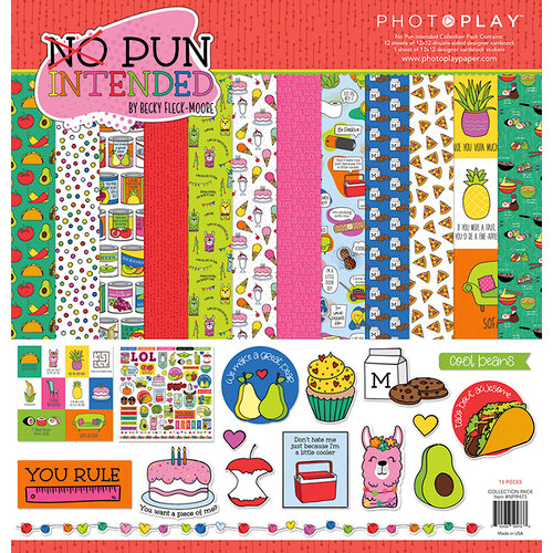 Photo Play Paper - No Pun Intended Collection - 12 x 12 Collection Pack