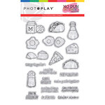 Photo Play Paper - No Pun Intended Collection - Clear Photopolymer Stamps - Foodie