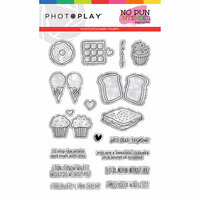 Photo Play Paper - No Pun Intended Collection - Clear Photopolymer Stamps - Sweets