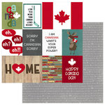 Photo Play Paper - O Canada Collection - 12 x 12 Double Sided Paper - True North