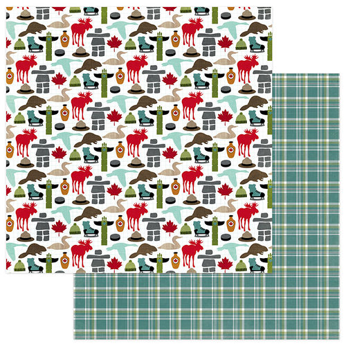 Photo Play Paper - O Canada Collection - 12 x 12 Double Sided Paper - Eh