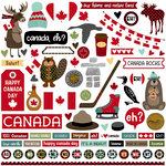 Photo Play Paper - O Canada Collection - 12 x 12 Cardstock Stickers - Elements