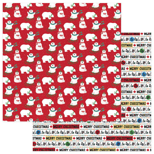 Photo Play Paper - O Canada Christmas Collection - 12 x 12 Double Sided Paper - Polar Games