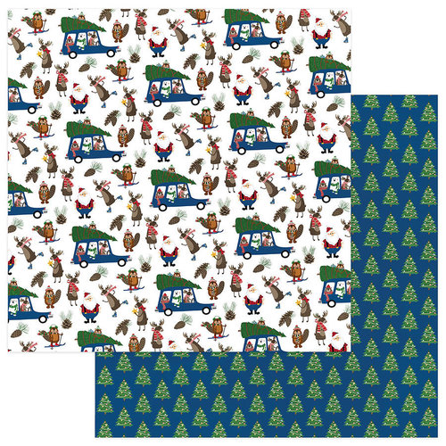 Photo Play Paper - O Canada Christmas Collection - 12 x 12 Double Sided Paper - Tree Farm
