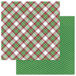 Photo Play Paper - O Canada Christmas Collection - 12 x 12 Double Sided Paper - Flannel Shirt