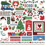 Photo Play Paper - O Canada Christmas Collection - 12 x 12 Cardstock Stickers - Elements