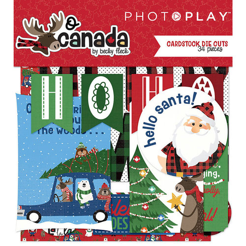 Photo Play Paper - O Canada Christmas Collection - Ephemera