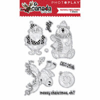 Photo Play Paper - O Canada Christmas Collection - Clear Acrylic Stamps