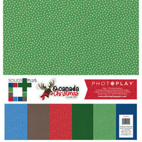 Photo Play Paper - O Canada Christmas Collection - 12 x 12 Collection Pack - Solids