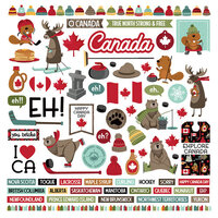 Photo Play Paper - O Canada 2 Collection - 12 x 12 Cardstock Stickers - Elements