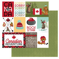 Photo Play Paper - O Canada 2 Collection - 12 x 12 Double Sided Paper - Sorry