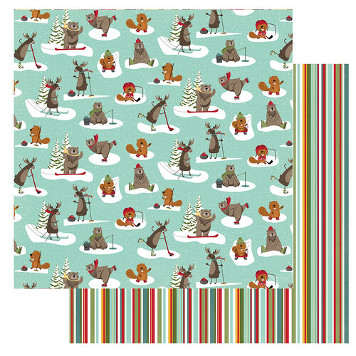Photo Play Paper - O Canada 2 Collection - 12 x 12 Double Sided Paper - Ice Rink