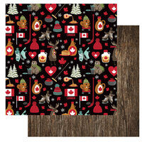 Photo Play Paper - O Canada 2 Collection - 12 x 12 Double Sided Paper - I Love Canada