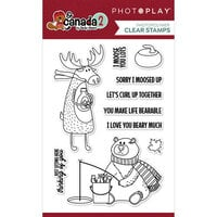 Photo Play Paper - O Canada 2 Collection - Clear Photopolymer Stamps - Moose and Bear