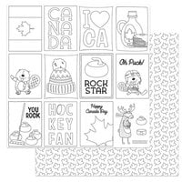 Photo Play Paper - O Canada 2 Collection - 12 x 12 Double Sided Paper - Color Me