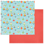 PhotoPlay Paper - Party Boy Collection - 12 x 12 Double Sided Paper - Cakes