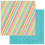 Photo Play Paper - Party Boy Collection - 12 x 12 Double Sided Paper - Diagonal Strip