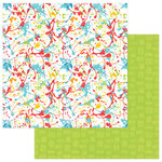 PhotoPlay Paper - Party Boy Collection - 12 x 12 Double Sided Paper - Paint Splatter