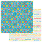 PhotoPlay Paper - Party Boy Collection - 12 x 12 Double Sided Paper - Birthday Words