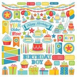 Photo Play Paper - Party Boy Collection - 12 x 12 Cardstock Stickers - Elements