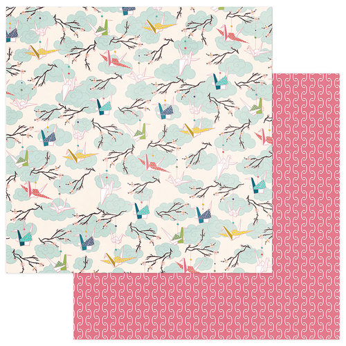 Photo Play Paper - Paper Crane Collection - 12 x 12 Double Sided Paper - Cranes