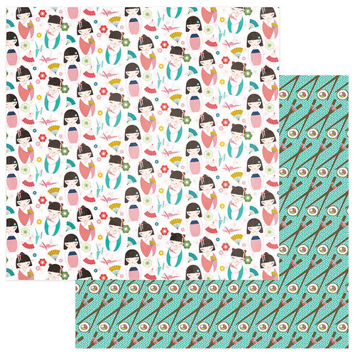 Photo Play Paper - Paper Crane Collection - 12 x 12 Double Sided Paper - Konnichiwa