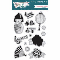 Photo Play Paper - Paper Crane Collection - Clear Acrylic Stamps