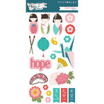 Photo Play Paper - Paper Crane Collection - Chipboard Stickers