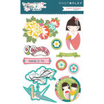 Photo Play Paper - Paper Crane Collection - Layered Cardstock Stickers