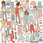 Photo Play Paper - Paper Dolls Collection - Ephemera Pack