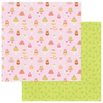 Photo Play Paper - Party Girl Collection - 12 x 12 Double Sided Paper - Vintage Cake