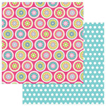 Photo Play Paper - Party Girl Collection - 12 x 12 Double Sided Paper - Medallions