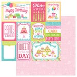 Photo Play Paper - Party Girl Collection - 12 x 12 Double Sided Paper - 3x4 and 4x6 Cards