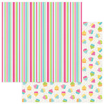 Photo Play Paper - Party Girl Collection - 12 x 12 Double Sided Paper - Stripe