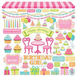 Photo Play Paper - Party Girl Collection - 12 x 12 Cardstock Stickers - Elements