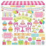 PhotoPlay Paper - Party Girl Collection - 12 x 12 Cardstock Stickers - Elements
