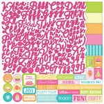 Photo Play Paper - Party Girl Collection - 12 x 12 Cardstock Stickers - Alphabet