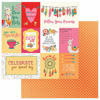 Photo Play Paper - Paprika Collection - 12 x 12 Double Sided Paper - Llove Llife
