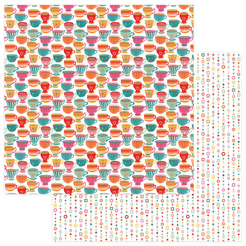 Photo Play Paper - Paprika Collection - 12 x 12 Double Sided Paper - Tea for Two