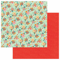 Photo Play Paper - Paprika Collection - 12 x 12 Double Sided Paper - Patchouli