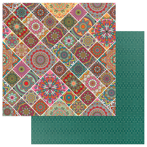 Photo Play Paper - Paprika Collection - 12 x 12 Double Sided Paper - Mandalas