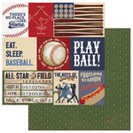 Photo Play Paper - Play Ball Collection - 12 x 12 Double Sided Paper - Grand Slam