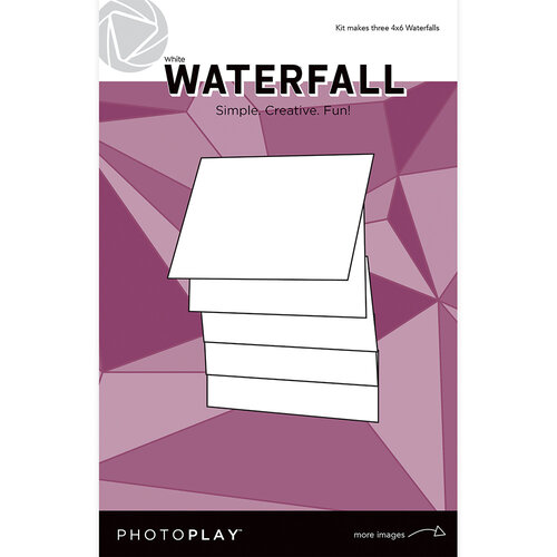 Photo Play Paper - Maker's Series Collection - Creation Bases - Manual - White Waterfall - 4 x 6