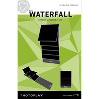 Photo Play Paper - Maker's Series Collection - Creation Bases - Mechanical - Black Waterfall - 4 x 4