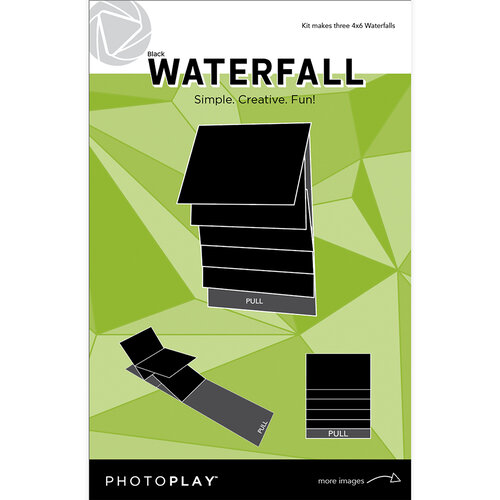 Photo Play Paper - Maker's Series Collection - Creation Bases - Mechanical - Black Waterfall - 4 x 6