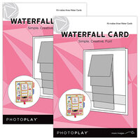 Photo Play Paper - Maker's Series Collection - Creation Bases - Card - Waterfall - 2 Pack