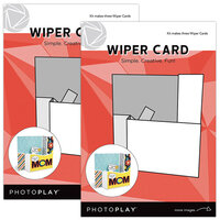 Photo Play Paper - Maker's Series Collection - Creation Bases - Card - Wiper Card - 2 Pack