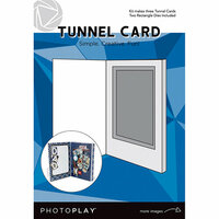 Photo Play Paper - Maker's Series Collection - Creation Bases - Card - Tunnel Cards with Rectangle Die