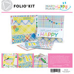 Color Play - Maker's Series Collection - Creation Bases - Mad 4 Plaid Happy Folio Kit